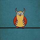 Funny Cartoon Horned Owl Case by Boriana Giormova