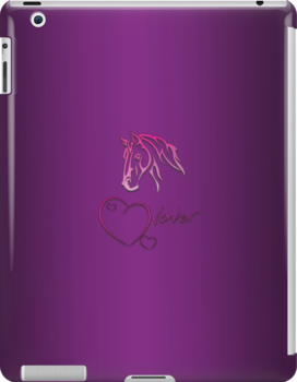 """I-Pad case """"Horselover"""" violet edit by scatharis"""