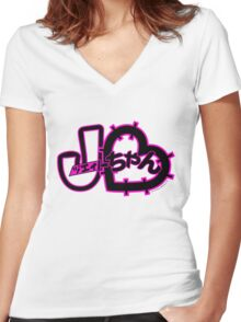 J-Chan (ジェイちゃん) Women's Fitted V-Neck T-Shirt