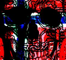 Skull circuit (norway-flag) Sticker