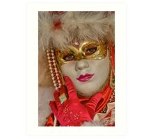 Venetian carnival Art Print