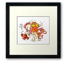 Pony Seuss- Fluttershy/Lorax Framed Print