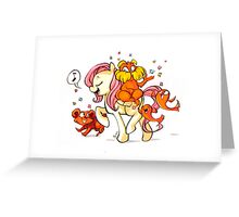 Pony Seuss- Fluttershy/Lorax Greeting Card