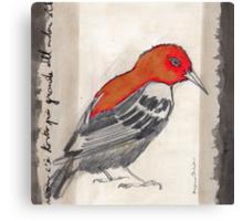 Black & Red Think Canvas Print