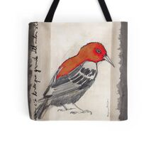 Black & Red Think Tote Bag