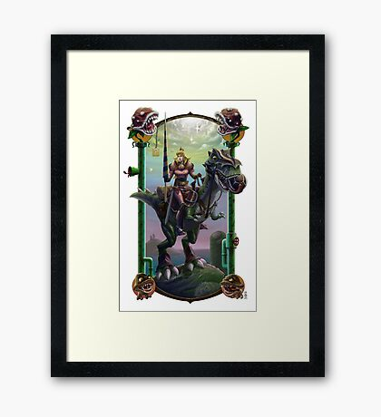 """""""He Just Might be in Another Castle."""" Framed Print"""