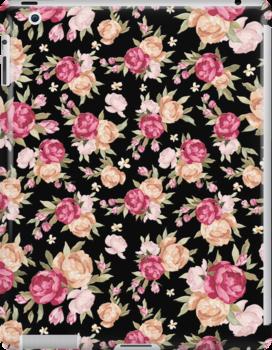 Colorful Retro Flowers by artonwear
