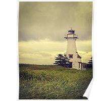 Lonely Lighthouse - Prince Edward Island Poster