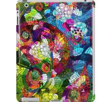 Colorful Retro Romantic Floral Collage iPad Case/Skin
