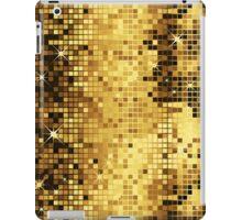 Gold Yellow Tones Retro Glitter Disco-Ball Mirrors Pattern iPad Case/Skin