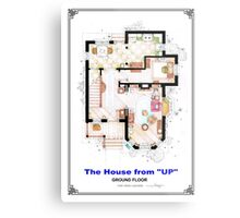 The House from UP - Ground Floor Floorplan Metal Print