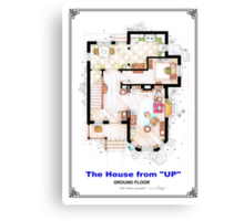 The House from UP - Ground Floor Floorplan Canvas Print