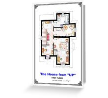 The House from UP - First Floor Floorplan Greeting Card
