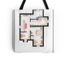 The House from UP - First Floor Floorplan Tote Bag