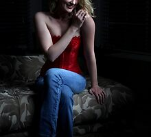 Sexy Blond Sitting by Henrik Lehnerer