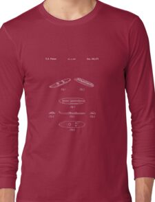 The Lego Patent Of Surfboard 6075 In White Version Long Sleeve T-Shirt