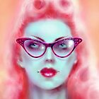 Spectacle Pinup Art Print by Marus Jones by ScreamingDemons