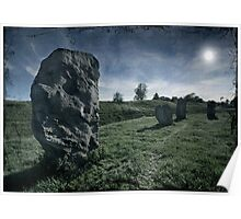 Avebury by Moonlight Poster