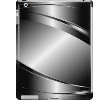 Silver Gray Metallic Design-Stainless Steel Look iPad Case/Skin