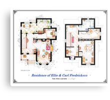 "Floorplan of the House from ""UP"" Metal Print"