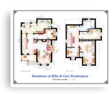 "Floorplan of the House from ""UP"" Canvas Print"