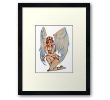 Tough Angel Framed Print