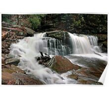 Churning Water Over Cayuga Falls Poster