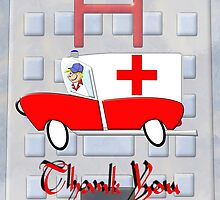 Hospital Thank You card by Dennis Melling