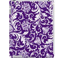 Purple And White Vintage Floral Damasks iPad Case/Skin