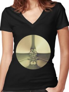 Glowing World Women's Fitted V-Neck T-Shirt