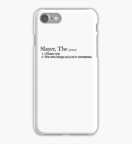 Slayer, The Definition (Black type) iPhone Case/Skin