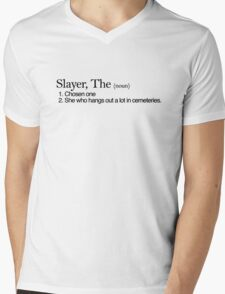 Slayer, The Definition (Black type) Mens V-Neck T-Shirt