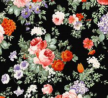 Colorful Floral Collage WIth Roses by artonwear