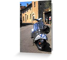 Vespa in Mougins Greeting Card