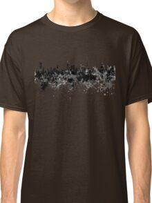 Kuwait City skyline in black watercolor Classic T-Shirt