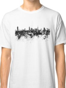 Kuwait City skyline in black watercolor Classic T-Shirt
