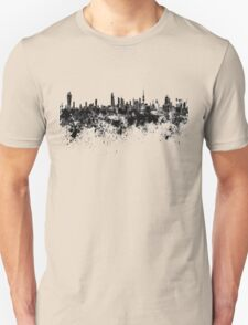 Kuwait City skyline in black watercolor Unisex T-Shirt