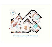 """Sheldon & Leonard's apartment from """"TBBT"""" Art Print"""