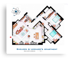 "Sheldon & Leonard's apartment from ""TBBT"" Canvas Print"