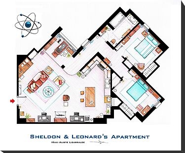 "Sheldon & Leonard's apartment from ""TBBT"" by Iñaki Aliste Lizarralde"