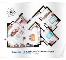 """Sheldon & Leonard's apartment from """"TBBT"""" Poster"""
