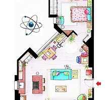 "Penny's apartment from ""TBBT"" by Iñaki Aliste Lizarralde"