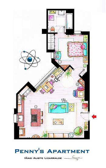 "Penny's apartment from ""TBBT"" by Iñaki Aliste Lizarralde"