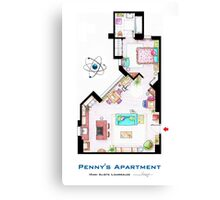 "Penny's apartment from ""TBBT"" Canvas Print"