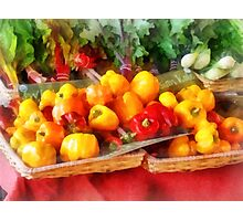Vegetables - Peppers at Farmers Market Photographic Print
