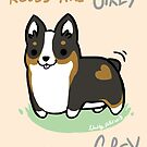 TRI Corgi Valentine -Roses are GREY- by IdentityPro