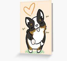 TRI Corgi Valentine -<3- Greeting Card