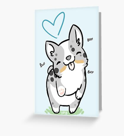 CARDIGAN Corgi Valentine -<3- Greeting Card