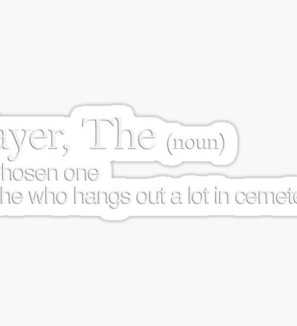 Slayer, The Definition (white type) Sticker