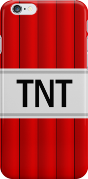 TNT I-Phone case  by Sam Mobbs